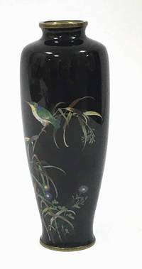 AS10005 Vase  Japan  um  1900  Eisvogelmotiv